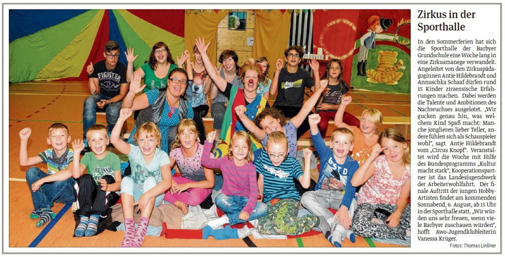 VST SBK 4.8.2016 Zirkus in Barby